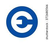 letter e inside circle logo... | Shutterstock .eps vector #372680566