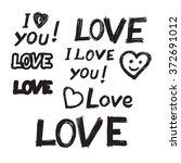 happy valentine's day.... | Shutterstock .eps vector #372691012