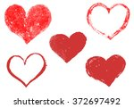 Set of hand drawn hearts. Happy Valentine's Day. I love You. Vector design element for greeting card, poster.
