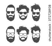 silhouettes of bearded men in...   Shutterstock .eps vector #372728938