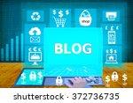 technology and biz concept.... | Shutterstock . vector #372736735