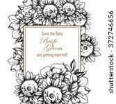 vintage delicate invitation... | Shutterstock .eps vector #372746656