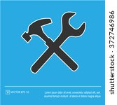 tool vector icon. wrench and...   Shutterstock .eps vector #372746986