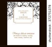 romantic invitation. wedding ...   Shutterstock .eps vector #372751378
