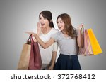 asian shopping woman with her... | Shutterstock . vector #372768412