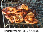 charcoal grilled chitterlings... | Shutterstock . vector #372770458
