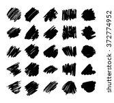 set of black vector abstract... | Shutterstock .eps vector #372774952