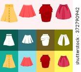 set of skirts | Shutterstock .eps vector #372790942