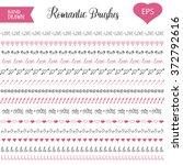 hand drawn pattern brushes set. ... | Shutterstock .eps vector #372792616