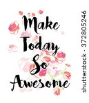 floral print with slogan in... | Shutterstock .eps vector #372805246