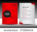 red cover design annual report...