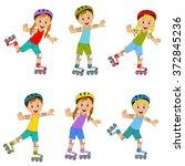 children boys and girls on... | Shutterstock .eps vector #372845236