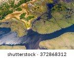 aerial view of okavango delta ... | Shutterstock . vector #372868312