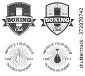 boxing club academy and martial ... | Shutterstock .eps vector #372870742