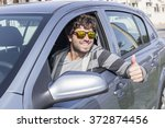 guy on a car | Shutterstock . vector #372874456