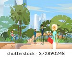 business people group in park... | Shutterstock .eps vector #372890248