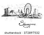 republic of singapore. vector... | Shutterstock .eps vector #372897532