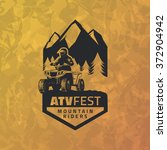 atv emblem on grunge yellow... | Shutterstock .eps vector #372904942