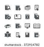 book icons    utility series | Shutterstock .eps vector #372914782