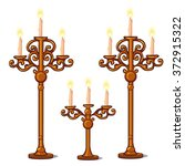 Three Candle Holder With...