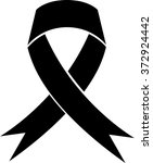 mourning and melanoma support... | Shutterstock .eps vector #372924442