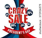 presidents day sale design ... | Shutterstock .eps vector #372926575