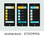 smart phones interface vector...