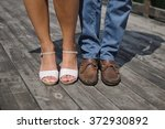 male and female legs during a... | Shutterstock . vector #372930892