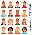 set of vector avatars icons men ... | Shutterstock .eps vector #372935098