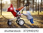 beautiful toddler boy playing... | Shutterstock . vector #372940192