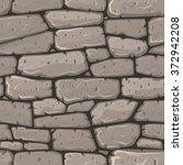 seamless cartoon stone texture. ... | Shutterstock .eps vector #372942208