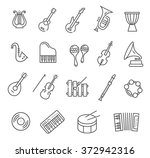 music instruments. vector icons | Shutterstock .eps vector #372942316