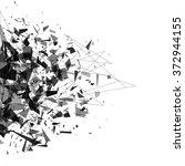 explosion of black shards.... | Shutterstock .eps vector #372944155