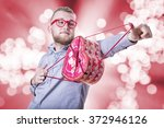 man with a valentine heart | Shutterstock . vector #372946126