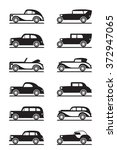 classic and retro cars   vector ... | Shutterstock .eps vector #372947065