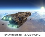 science fiction spaceship | Shutterstock . vector #372949342