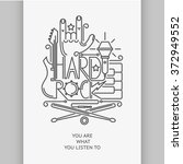 rock and roll typographic for t ... | Shutterstock .eps vector #372949552