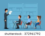 a group of students. a training ... | Shutterstock .eps vector #372961792