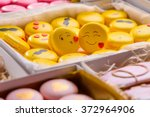 Background With Sweets In Boxe...