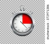 silver stopwatch on transparent ...   Shutterstock .eps vector #372971386