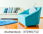 beautiful luxury pillow on sofa ... | Shutterstock . vector #372981712
