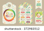 cute colorful kids meal menu... | Shutterstock .eps vector #372983512