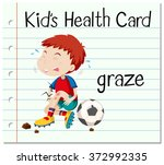 health card with boy having... | Shutterstock .eps vector #372992335