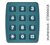 classic land line telephone... | Shutterstock .eps vector #373006618