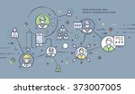flat style  thin line business...   Shutterstock .eps vector #373007005