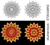 line thai art design   vector... | Shutterstock .eps vector #373016842