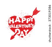 happy valentines day sign. logo ... | Shutterstock . vector #373019386