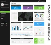 admin dashboard template design | Shutterstock .eps vector #373030426