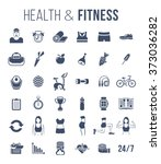 fitness gym and healthy... | Shutterstock .eps vector #373036282