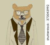 bear worker | Shutterstock . vector #373043992